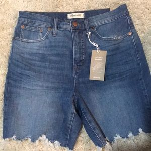 NWT Madewell mid-length jean shorts